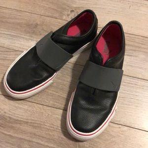 Puma slip on shoes.